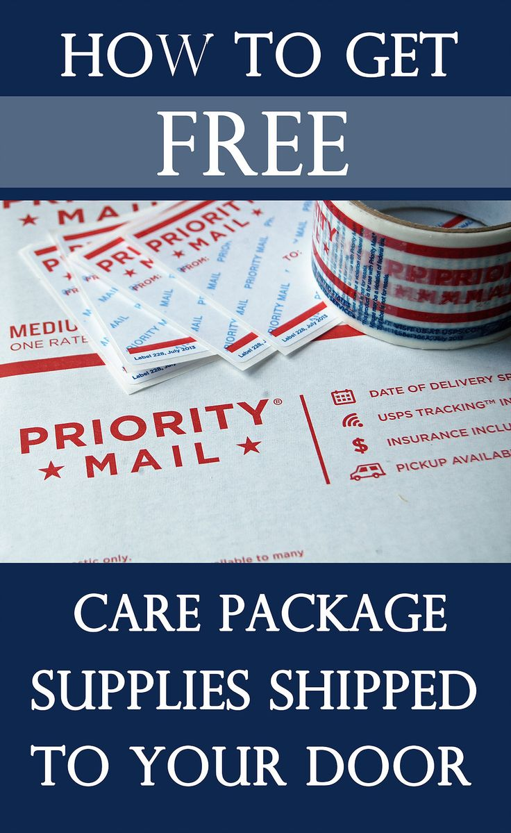 How to get free care package supplies shipped to your door