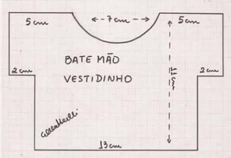 MOLDE DE BATE MAO DE VESTIDINHO TECIDO - Pesquisa Google