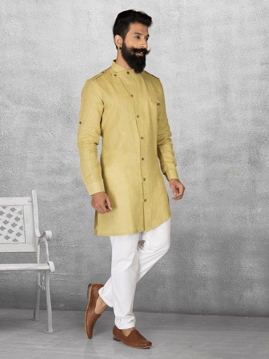 c07da8772a Shop Yellow color linen kurta suit online from G3fashion India. Brand - G3