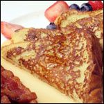 "New Orleans French Toast (Pain Perdu) Recipe | MrBreakfast.com..Pain Perdu translates to ""Lost Bread"". It is very important that the bread be stale. You'll get a soggy texture otherwise. Pain Perdu (Lost Bread), or French Toast for those not Cajun"