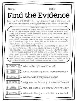 TEXT DETECTIVES- FIND THE TEXT EVIDENCE FREEBIE SAMPLER! - TeachersPayTeachers.com