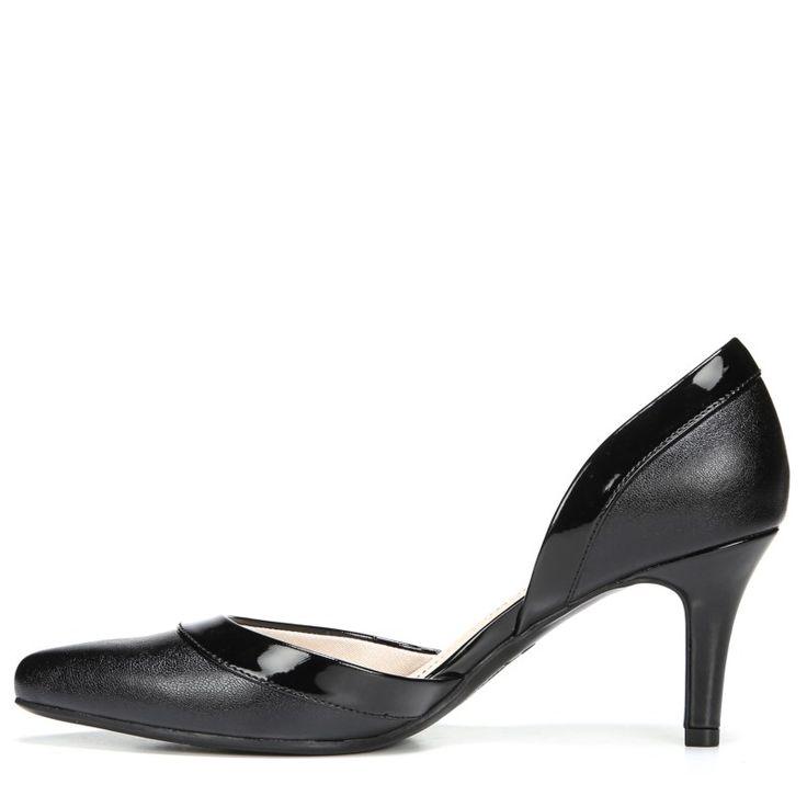 Lifestride Women's Saldana Medium/Wide D'orsay Pump Shoes (Black)