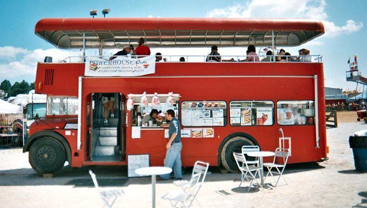 ロンドンバスのデメリットを克服したロンドンバスタイプの移動販売車 ロンドンバス 移動販売 移動式カフェ