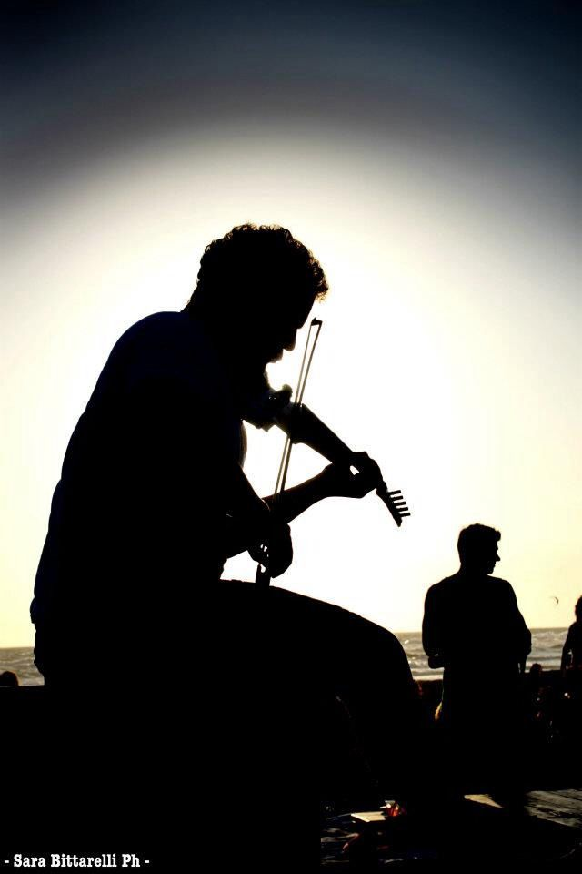 Micah The Violinist Singita Miracle Beach Fregene, Rome, Italy beach club, sunset & aperitif