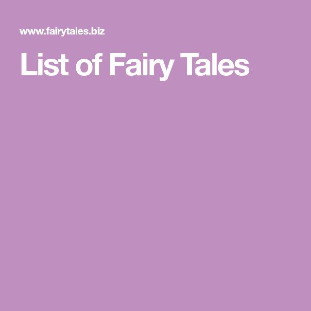 List of Fairy Tales