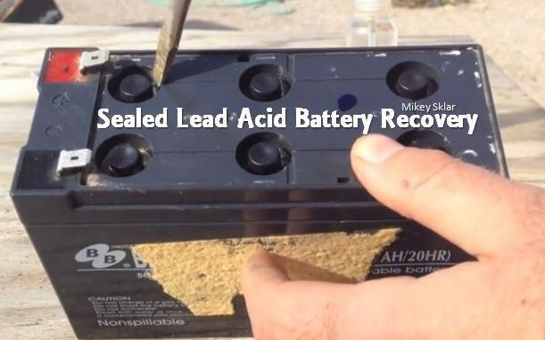 Do You Have Old Dead Lead Acid Batteries Sitting In Your Garage Unused For Years Then This Could Be A Good Information