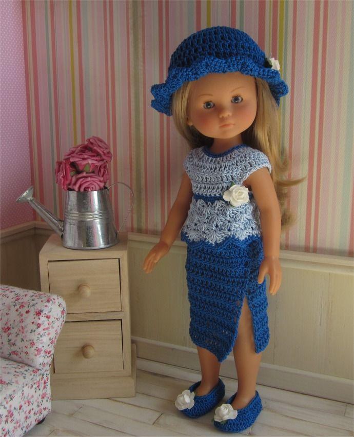 74- FICHE PATRON CROCHET Tenue Clémence pour poupée Paola Reina ou Les Chéries de Corolle : Jeux, jouets par atelier-crochet