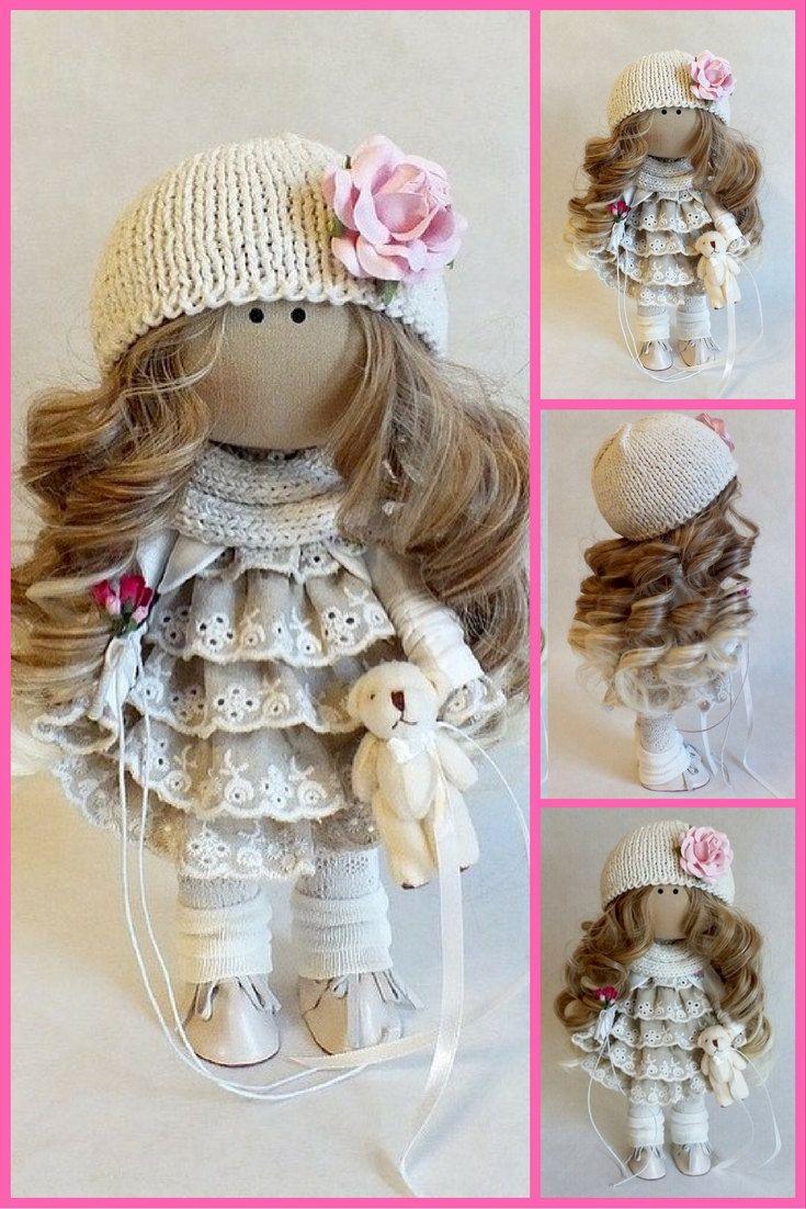 Fabric doll Interior doll Tilda doll Interior by AnnKirillartPlace