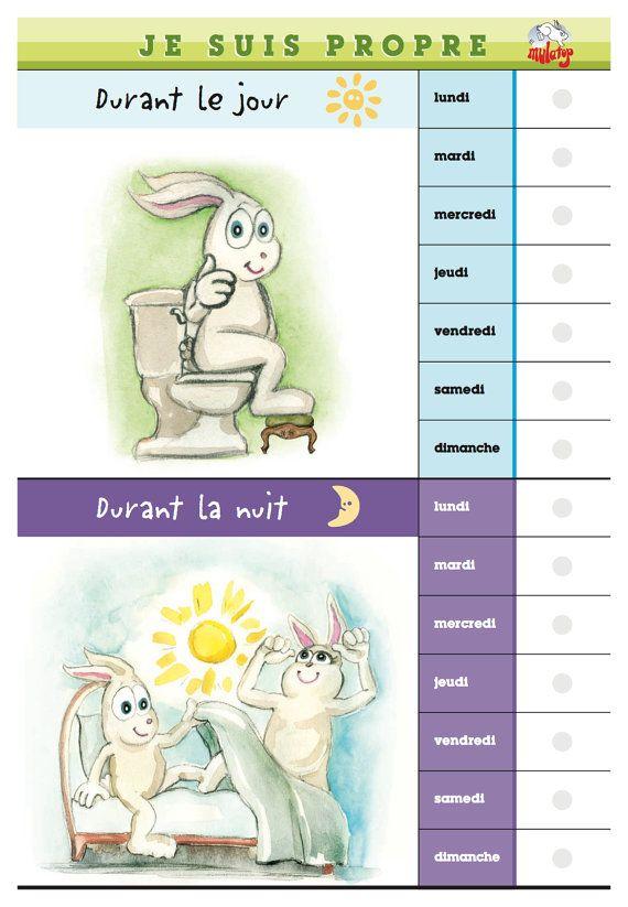 Tableau d'apprentissage de la propreté par Mulatop sur Etsy