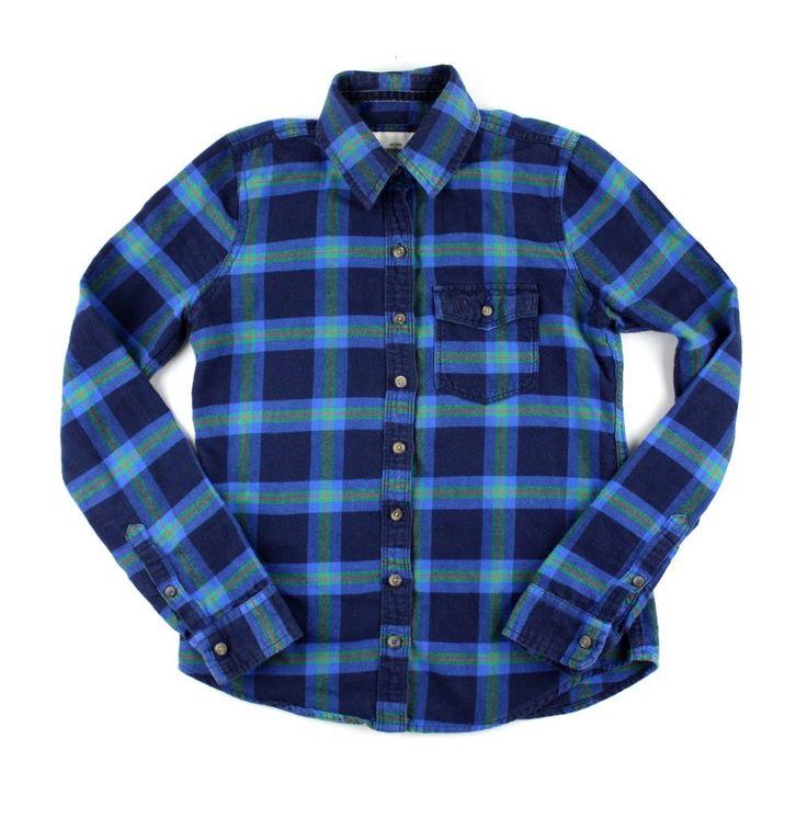 blue shirt, plaid flannel shirt, Abercrombie Kids