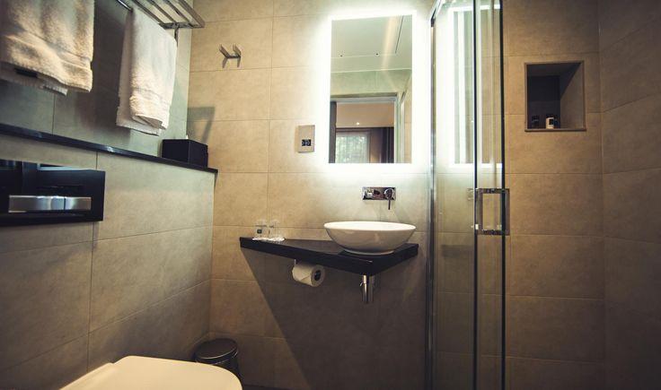 Lighting control system installed @bestwesterngb Delmere Hotel, London. Intelligently controlled bathroom lights