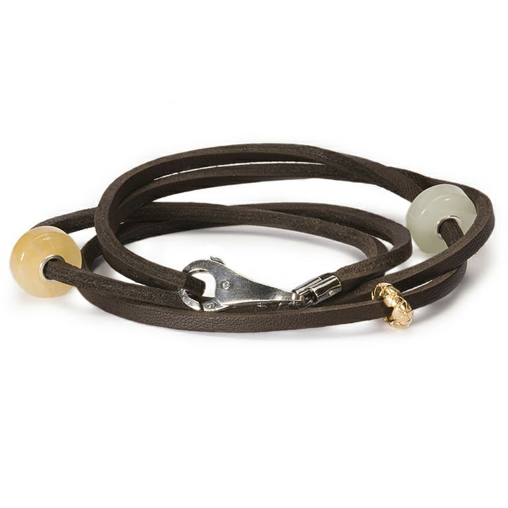 Leather Bracelet Brown.  For Scott.  But I would like it too!