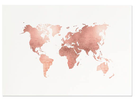 "Rose Gold Map ♥ Printable Art | Created by #FleurtCollective ✦ WHAT'S INCLUDED ✦ 1. JPEG for printing 4x5"", 8x10"", 16x20"", 22x28, 40x50cm 2. JPEG for printing 6x8"", 9x12"", 12x16"", 18x24"", 30x40cm 3. JPEG for printing 8x12"", 20x30"", 10x15cm, 20x30cm, 30x45cm, 50x70cm 4. JPEG for"