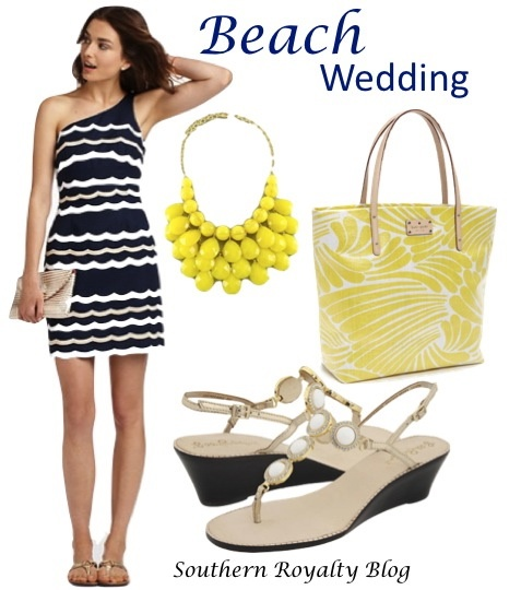 What to wear to a beach wedding.