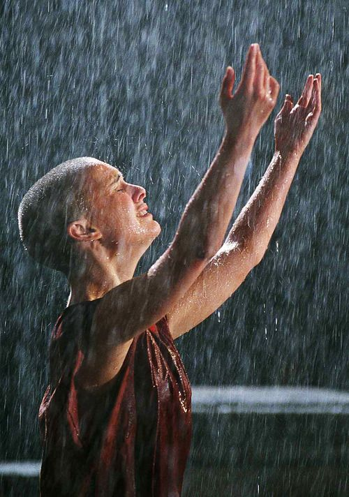 """God is in the rain"" One of my favorite moments in that movie. Natalie Portman in V for Vendetta"