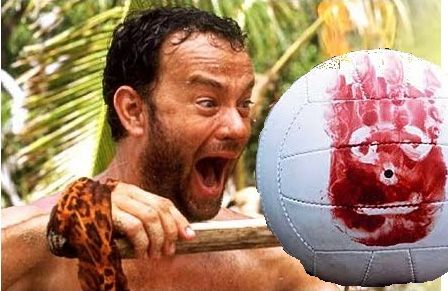 Finally, the character played by Tom Hanks builds a raft and decides to leave the island. Of course, he also takes Wilson with him