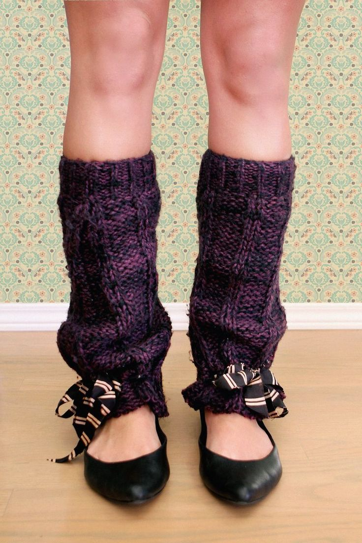 leg warmers diy from old jumper
