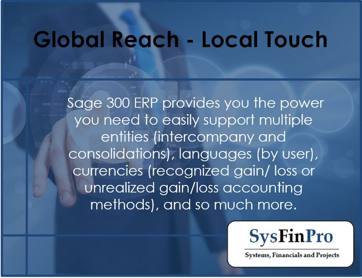 For more information on #Sage 300 and what it can support contact #SysFinPro today at info@sysfinpro.co.za