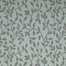 Buy John Lewis Woven Vine Fabric, Duck Egg Online at johnlewis.com