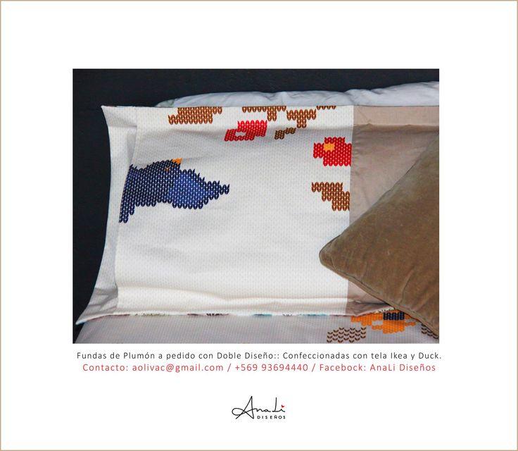 Fundas de plumón a pedido confeccionadas en tela Ikea y Duck. Telas estampadas con diseños nórdicos y colores planos de excelente calidad. Confección hecha a mano. Confección nacional. Contacto: aolivac@gmail.com / +569 93694440