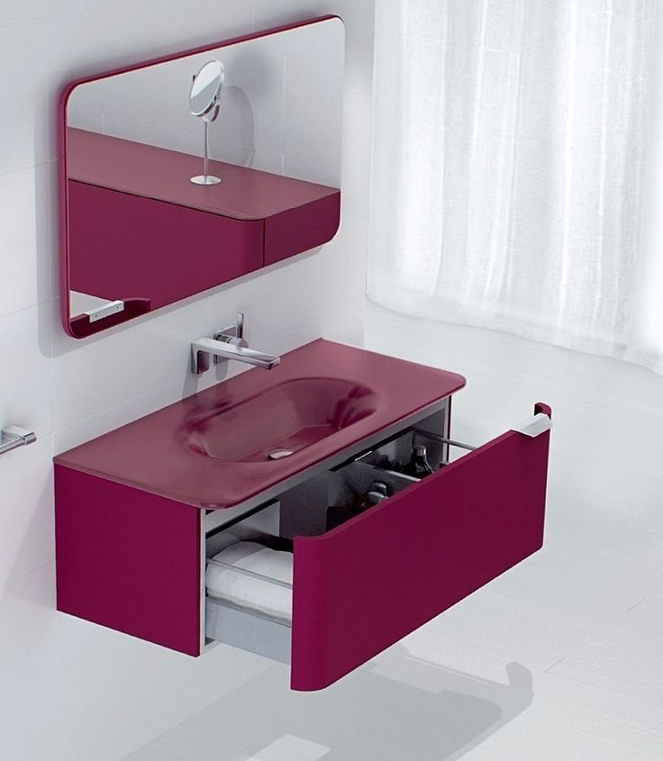 "Mobile lavabo Sonia SONGE ""BORDEAUX"""