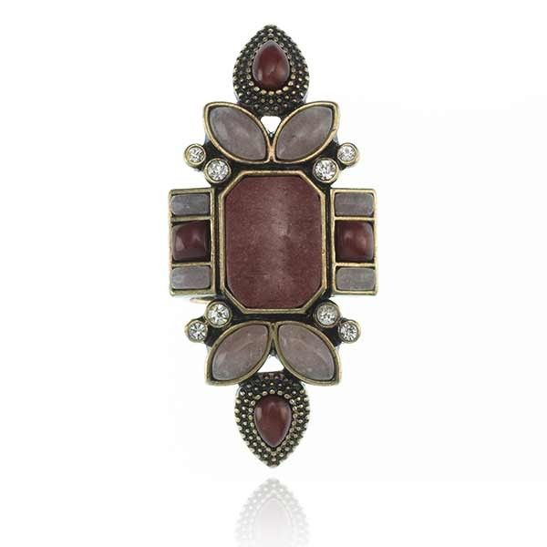 Love at Sunset Ring Burgundy