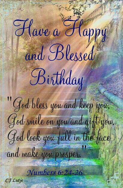 Happy Birthday blessing