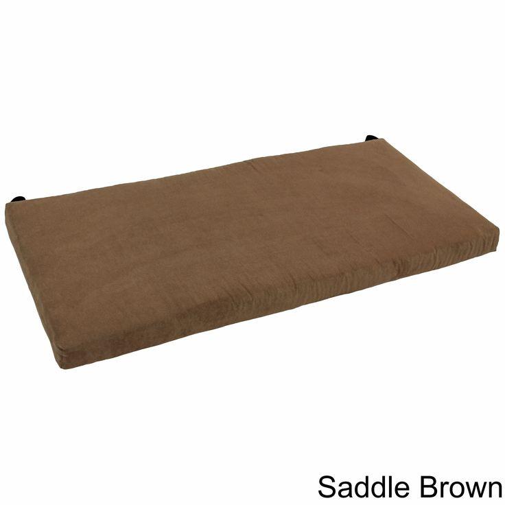 Blazing Needles 42 Inch Microsuede Indoor Bench Cushion (Black)