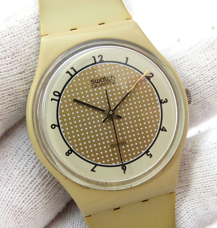 "SWATCH,Swiss Designer,""Coffee Waffle Dial"" Coffee Band RARE! MENS WATCH,R1,L@@K! #Swatch #Fashion"
