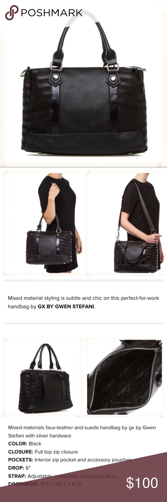 "🆕! GX by Gwen Stefani ""Hayla"" handbag in black Chic perfect for work handbag. See third picture for details and measurements. Bag is in original factory packaging.  NO TRADES! GX by Gwen Stefani Bags"