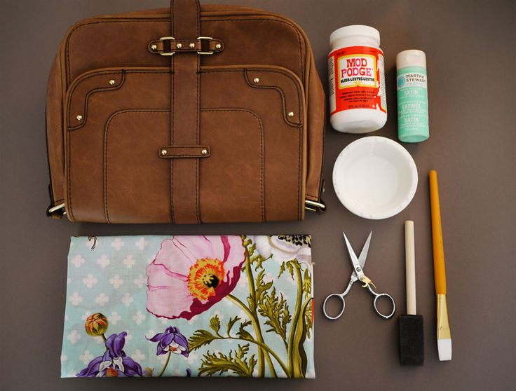 """Decoupage Bag - Great project, but you know, if you just search """"decoupage"""" on Pinterest... There is just a lot of ugly crap out there :-)"""