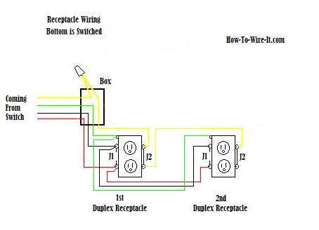 Switched Receptacle Wiring In Series Diagram DIY and