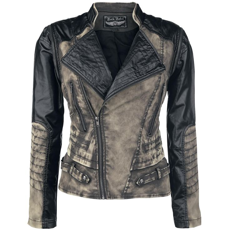 2in1 Biker Style - Girls jacket by Rock Rebel by EMP - Article Number: 291283 - from 79.99 € • EMP