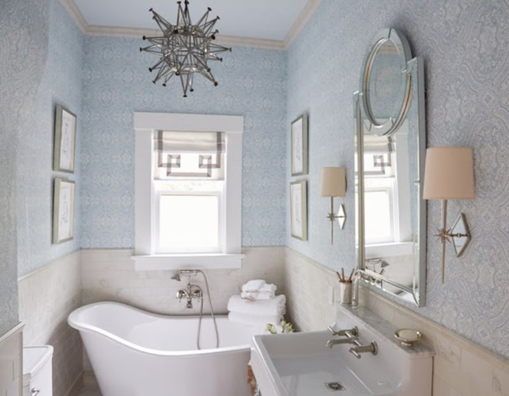Lisa's little jewel box of a bathroom at the Traditional Home Napa show house.