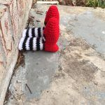Ding Dong! The Witch is Dead … it's a Wicked Witch Yarnbomb!