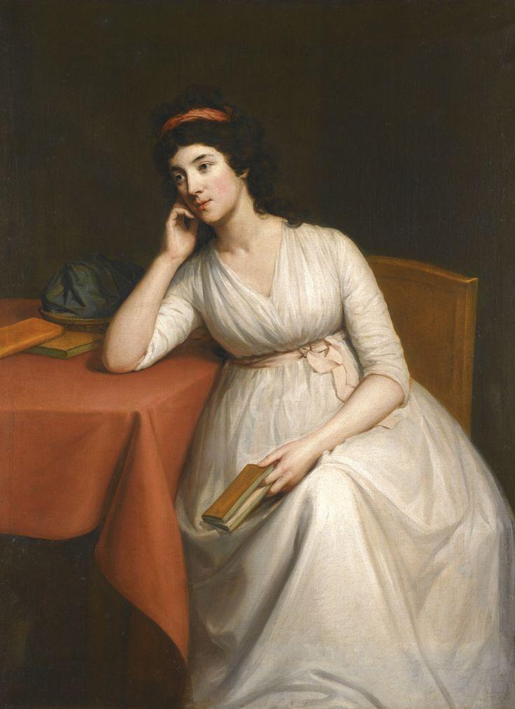Portrait of a lady, probably Lady Charlotte McDonnell, 1790s, Hugh Douglas Hamilton.