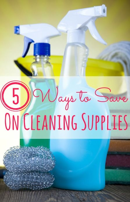 Tired of wasting money on cleaning supplies? These 5 ways to save on cleaning supplies are the best ways I've found to save! Up to 100% savings !