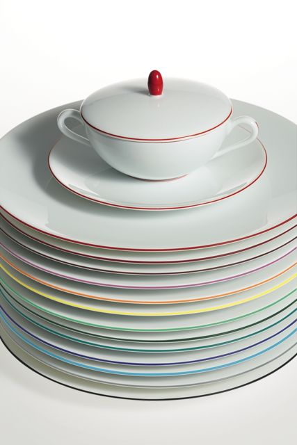 #Raynaud - Limoges #porcelain - Monceau color collection with its 13 different #colors