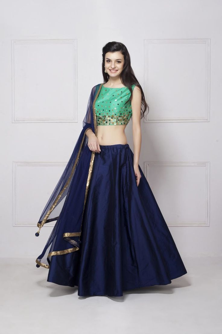 Rent HOUSE OF OMBRE - Sequin Embroidered Lehenga Set