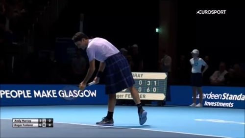 Roger Federer playing in a scottish skirt vs. Andy Murray is the best thing ever :D #federer #murray #atpfinals https://video.buffer.com/v/5a04191c936392d45844d80b