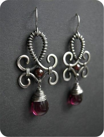 garnet & wire Would like to try different variations on this lovely theme!