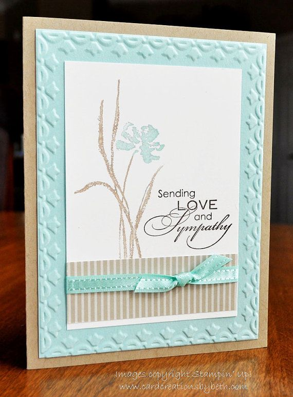 Handmade Sympathy Card, Stampin Up, Blank Inside