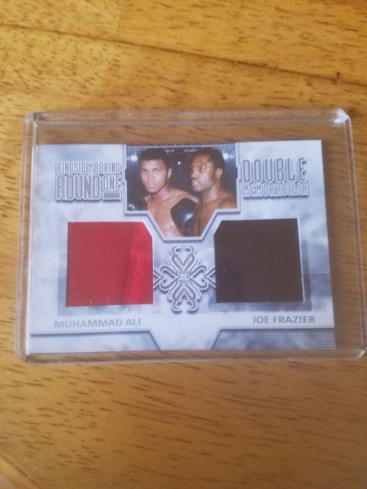 2009 Ringside Boxing Card Ali Trunks & Frazier Robe Dual Memorabilia