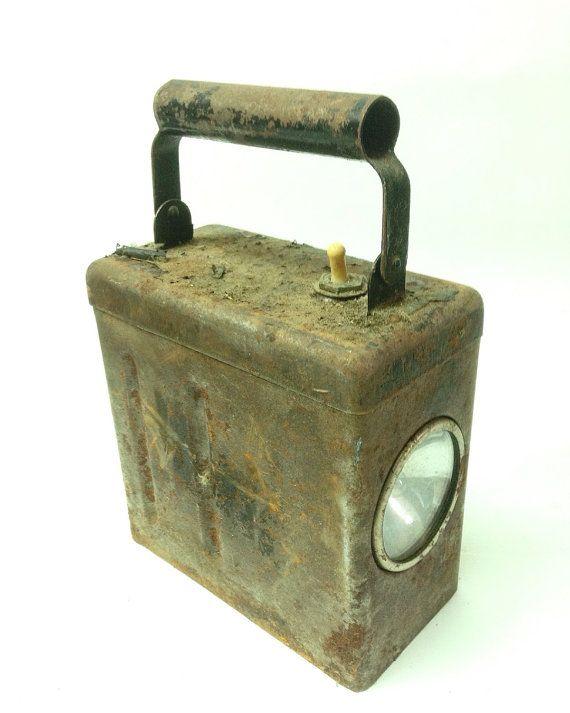 Soviet Miner Hand Lamp Industrial Lamp by SovietHardware on Etsy