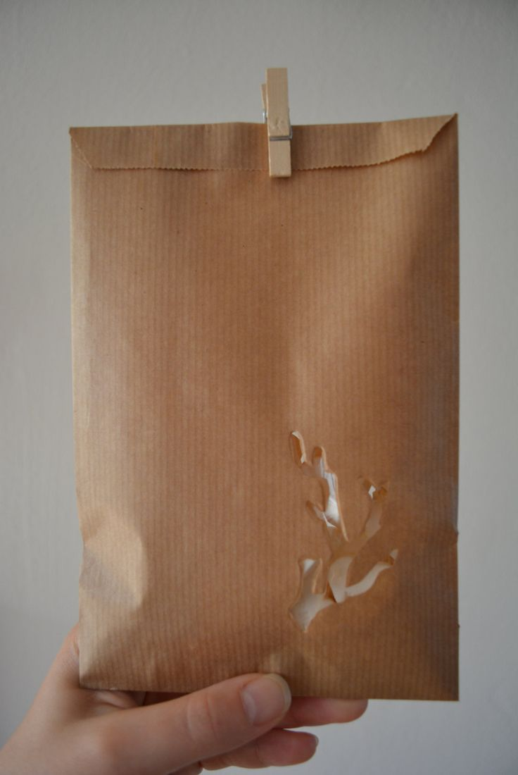 Kraft paper favor bags with a branch window in a bundle of 100 with cellophane bags --- Give away's, art deco wedding or wedding favors door SierGoed op Etsy