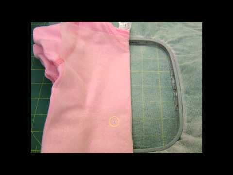 How to embroider a baby onesie video from Embroidery Online.  very helpful tips for those little ones.