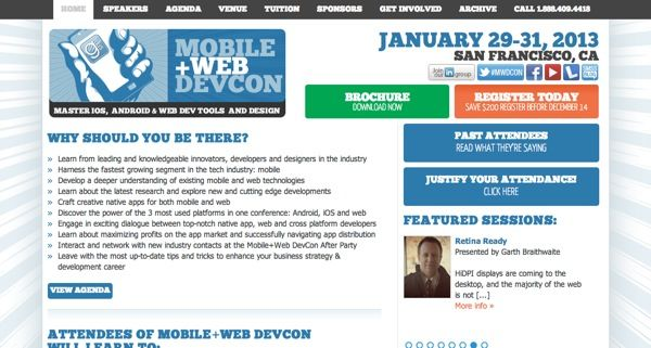 http://www.mobilewebdevconference.com/ 24 Awesome Web Design Conferences You Should Know