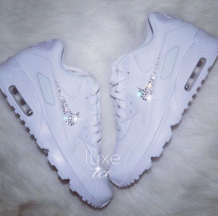 Nike Air Max 90 - White with SWAROVSKI® Xirius Rose-Cut Crystals. Product