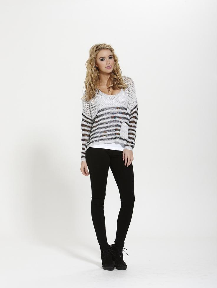Emma Stripe Knit  Winter 2013  Shop Online @ http://shop.finesseboutique.co.nz/page/welcome