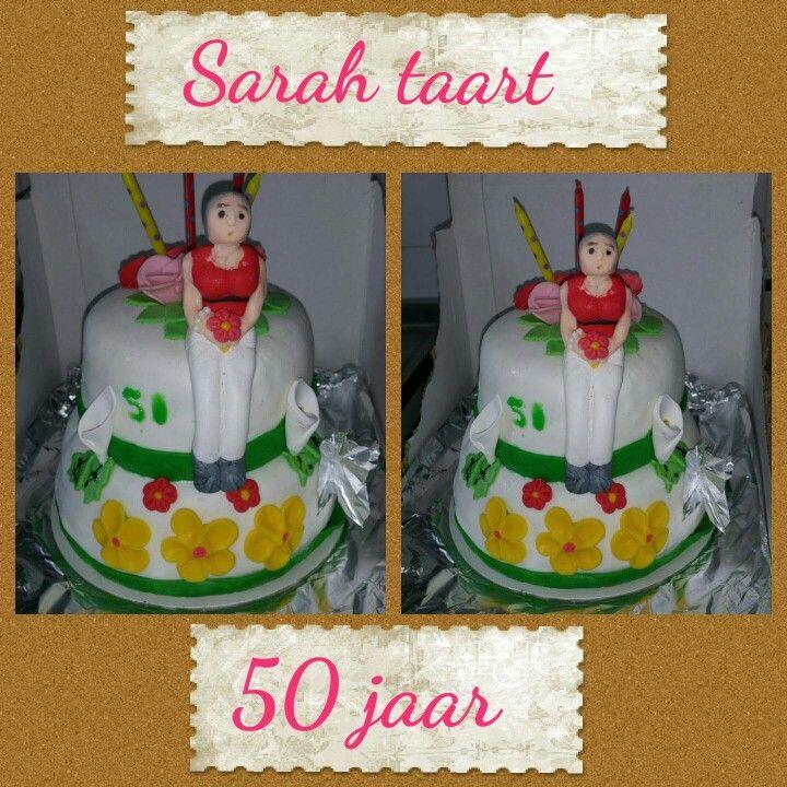 Sarah taart 50jaar